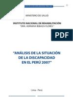 Analisis de la Discapacidad en el Peru - 2007
