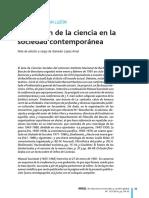 Funcion Ciencia en Sociedad Contemporanea M.sacristan