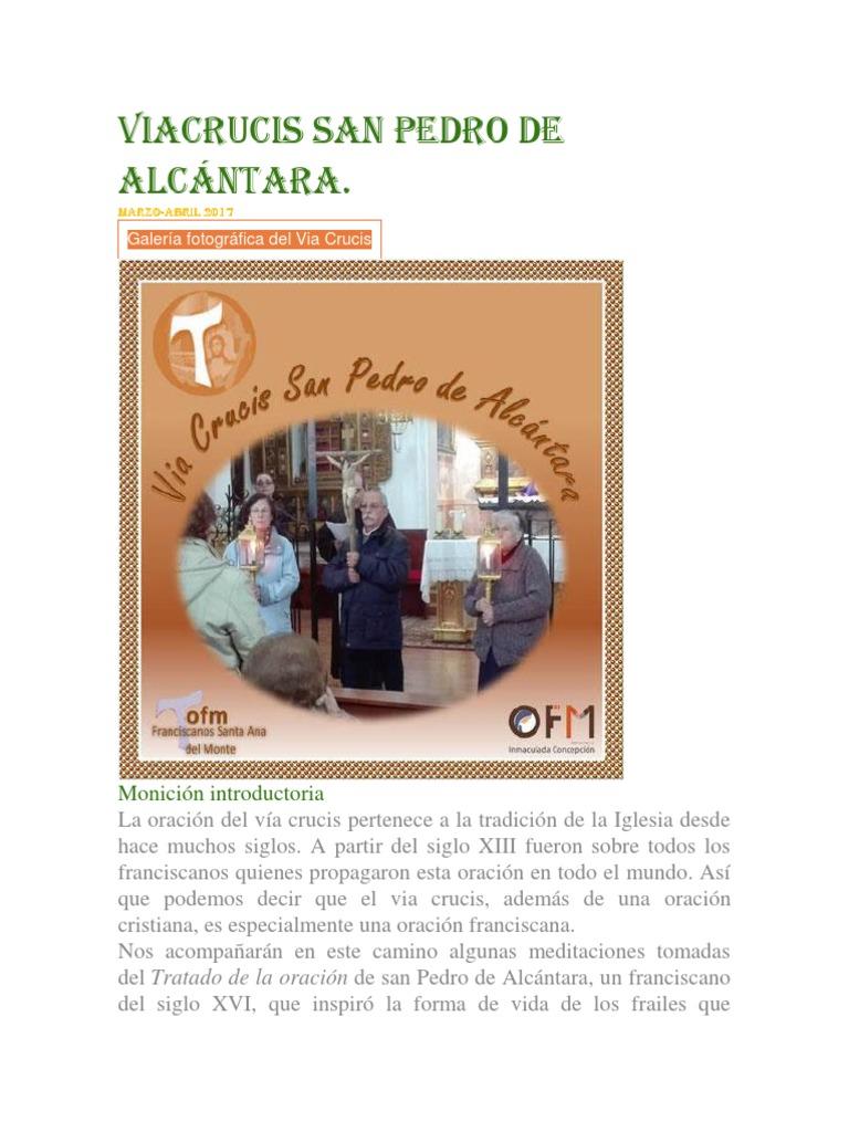 """Resultado de imagen de San Pedro Alcántara """"VIA CRUCIS""""."""