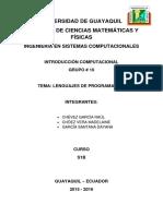 I.C Lenguajes de Programación S1B