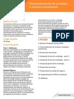 Desenvolvimento de produtos e serviços sustentáveis