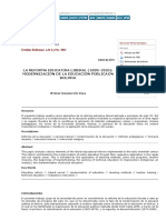 Estudios Bolivianos - LA REFORMA EDUCATIVA LIBERAL (1899-1920)_ MODERNIZACIÓN DE LA EDUCACIÓN PÚBLICA EN BOLIVIA.pdf