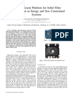 Energy Efficient Platform for Sobel Filter Implementation in Energy and Size Constrained Systems
