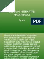 SEJARAH KESEHATAN MASYARAKAT