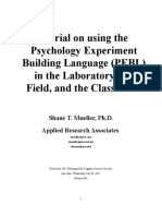 PEBL Tutorial Workbook
