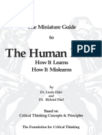 Richard Paul Guide to the Human Mind How It Learns How It Mislearns