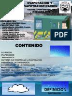 Diapositiva de Evaporacion y Evapotranspiracion...