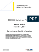 ECON3101 Markets and Frictions S12017