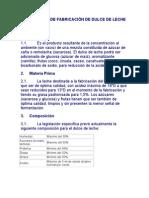 TECNOLOGÍA DE FABRICACIÓN DE DULCE DE LECHE