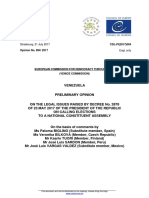 European Commission - Opinion on Legality of Venezuela Calling a Constituent Assembly - 21 July 2017