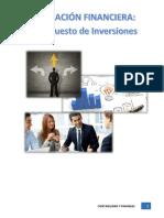 planificacion Financiera Presupuesto de inversion