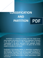 Classification and Partition
