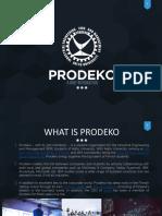 Prodeko Intro for Tel Aviv