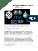 Prediksi Bola Montpellier vs Saint Etienne 27 Juli 2017