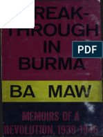 Ba Maw 1968 Breakthrough in Burma en Ocr