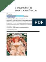 El Siglo Xx en 20 Movimientos Artísticos