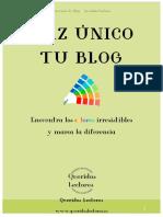 E-book Haz Unico Tu Blog