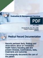 [Edwards Brenda]Evaluation and Management Services