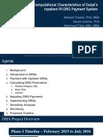Characteristics of Dubai's IR-DRGs
