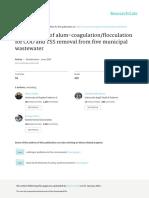 Optimization of Alum-coagulationflocculation for C