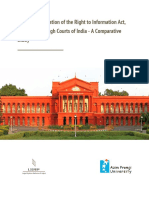 The Implementation of the Right to Information Act 2005 in Nine High Courts of India - A Comparative Study - LSRP