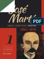 Jose Marti, Obras Completas, T. I. 1862 - 1876