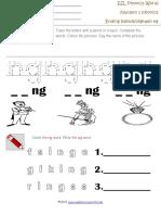 Ending Blends-digraph Ng Worksheet