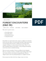 Forest Encounters (D&D 5e)