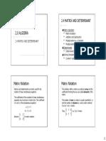 2.4 Matrices & Determinant