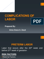 Complications of Labor