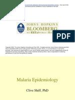 Malaria Epidemiology