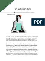 Articulo Mindfulness La Atencion Plena