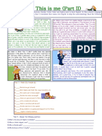 8390 This is Me Part 2 Reading Comprehension for Adults Lower Intermediate Level With Key Fully Editable-1