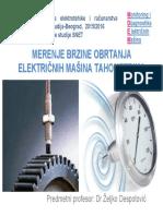 Merenje Brzine Obrtanja Elektricnih Masina Tahometrom