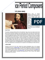 Famous Composer on Renaisance Baroque Medevial Period