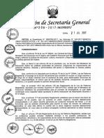 RSG N° 208-2017-MINEDU NORMAS QUE REGULAN EL PROCEDIMIENTO PARA EL ENCARGO DE PLAZAS VACANTES DE CARGOS DIRECTIVOS, JERÁRQUICOS, ESPECIALISTAS EN FORMACIÓN DOCENTE Y ESPECIALISTAS EN EDUCACIÓN EN EL MARCO DE LA LEY DE R