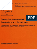 Energy conservation in Industries. Applications and techniques.