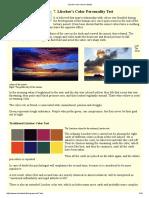 Lüscher Color Test in Details