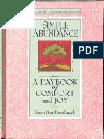 Simple Abundance Sarah Ban Breathnach
