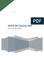 Note de Calcul VRD