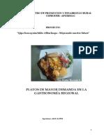 Estudio de La Gastronomía Regional Apurimac