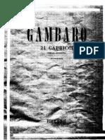 Gambaro - 21 Capricci