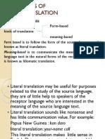 Part 7 Kinds of Translation