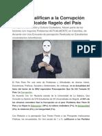 10. Jóvenes Califican a La Corrupción Como El Alcalde Flagelo Del País