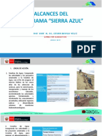 Alcances Del Programa Sierra Azul