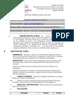 Programa Derecho Internacional Privado 2010