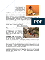 Pobreza, Tipos de Pobreza, Causas de La Pobreza, Como Reducri La Pobreza