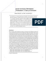 Corporate Governance Mechanisms and Firm Performance a Survey of Literature
