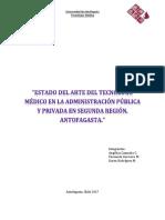 Estado Del Arte Del Tecnólogo Médico en La Administración Pública y Privada en Segunda Región