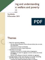 Measuring and Understanding Behavior, Welfare, And Poverty